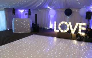 Wedding DJ, White Starlit Dance Floor