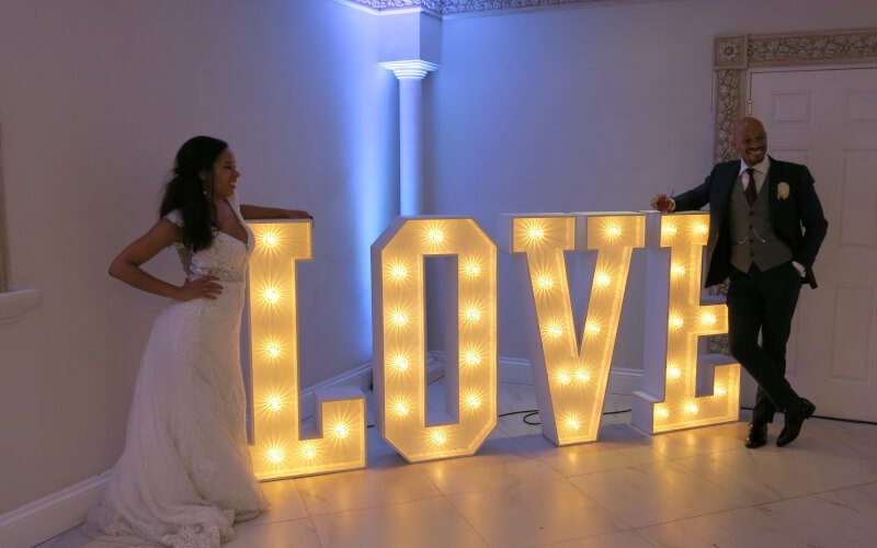 Fantastic Enhancements - 4ft LOVE Letter Hire