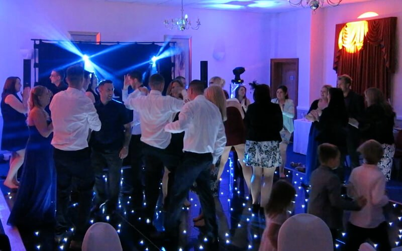 Guildford Manor Hotel - Black Starlit Dance Floor Hire