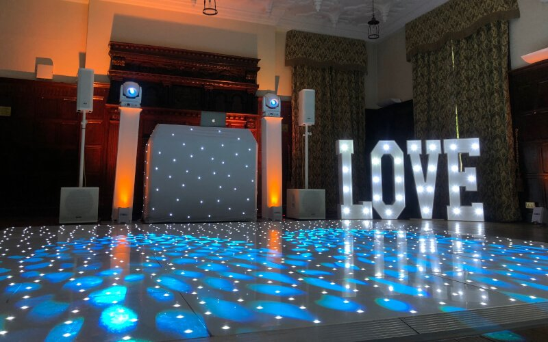Marden Park - White Starlit Dance Floor Hire