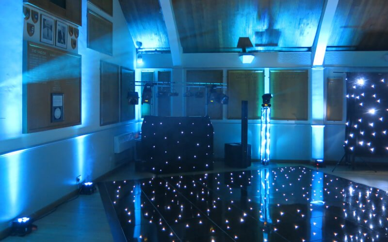 West Hill Golf Club - Black Starlit Dance Floor Hire
