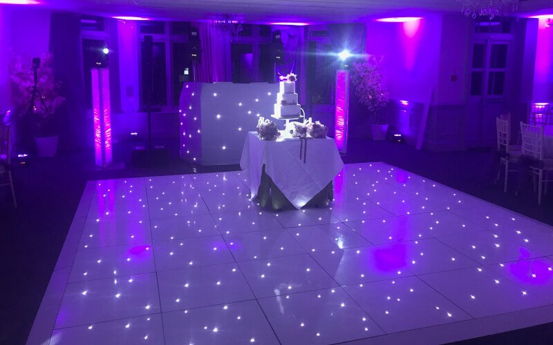 Woodland Park Hotel LED Starlit Dance Floor Hire