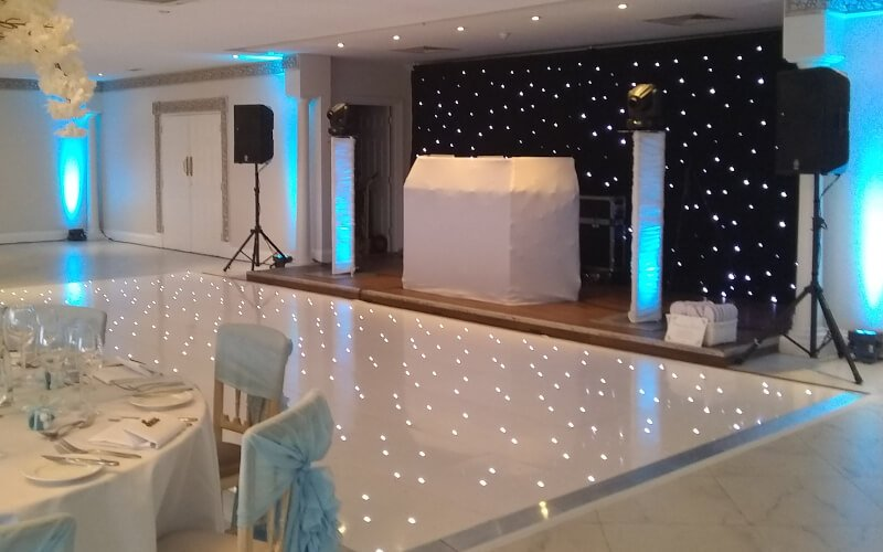 6x3m Black Starlit Backdrop Hire | Fantastic Enhancements