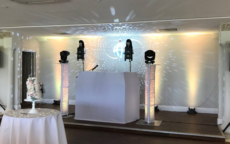 Fantastic Enhancement at Froyle Park - Wedding DJ & Mirrorball